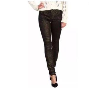 Free people animal print skinny jeans